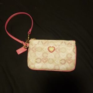 Small authentic Coach wristlet